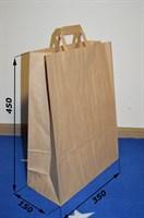 Крафт пакет 350х150х450мм, с плоскими ручками