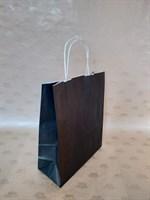 Крафт-пакет 250х110х320мм с кручеными ручками, черный