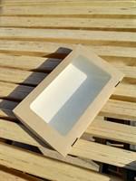 Крафт-коробка с окном 250х150х40мм